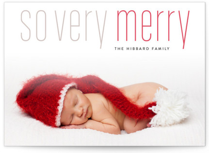 Merry Holiday Letterpress Holiday Photo Cards