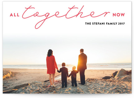 All Together Now Letterpress Holiday Photo Cards