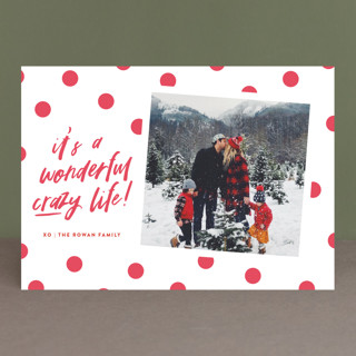 Wonderful Crazy Letterpress Holiday Photo Cards