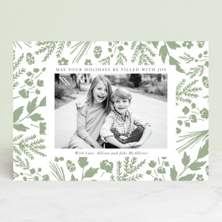 Among the Foliage Letterpress Holiday Photo Cards