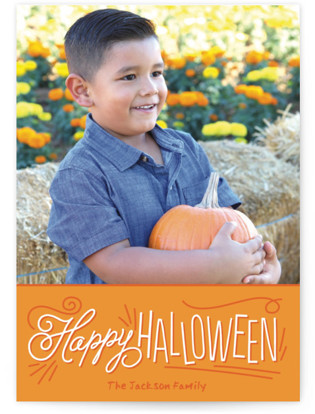 Happy Handwriting Halloween Cards