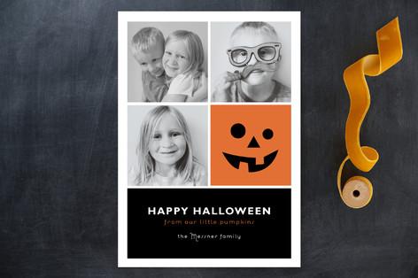 Little Pumpkin Blocks Halloween Cards