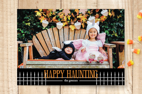 Haunted Yard Halloween Cards