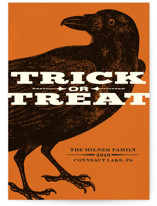 Trick or Treat Raven Halloween Cards