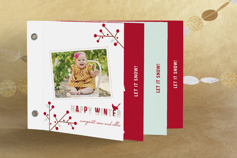winter berries Holiday Minibook™ Cards