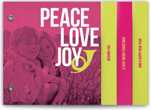 Peace Love and Bop Holiday Minibook™ Cards