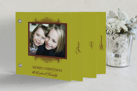 Ornate Frame Holiday Minibook™ Cards