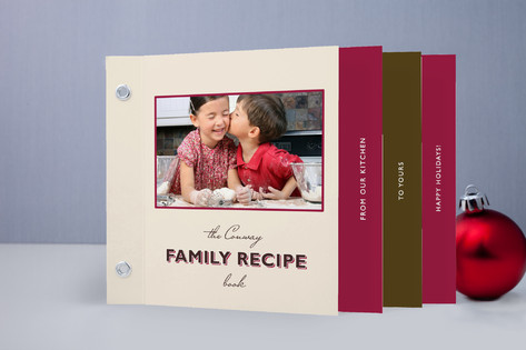 Chic Family recipe Holiday Minibook™ Cards