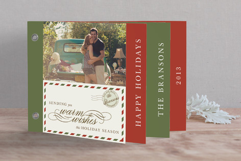 Airmail Holiday Minibook™ Cards