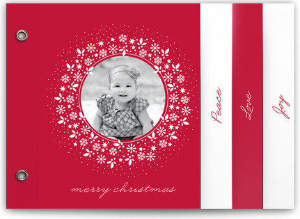 Red Wreath Holiday Minibooks