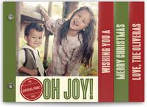 Retro Peace Holiday Minibook™ Cards