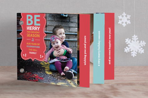 Be Merry Banner Holiday Minibook™ Cards