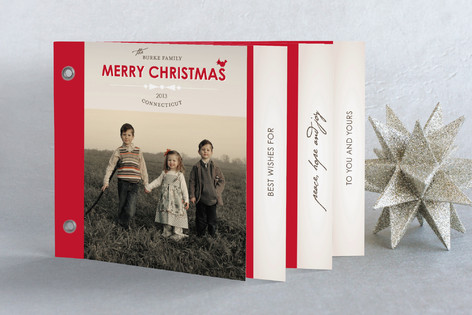 Bowtie Holiday Minibook™ Cards