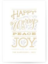 Happy merry peace joy