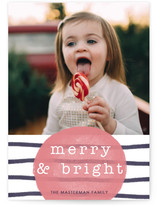 Merry & Bright Watercolor Stripes