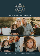 Seasonal Monogram Holiday Petite Cards