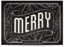 Merry Chalkboard by GeekInk Design