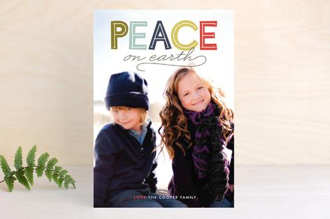 Modern Headline Holiday Petite Cards