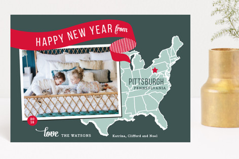 Holiday Map - East Coast Holiday Petite Cards