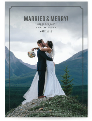 Married and Merry Petite Holiday Cards