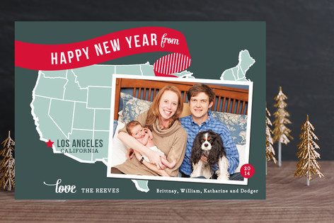 Holiday Map - West Coast Holiday Petite Cards