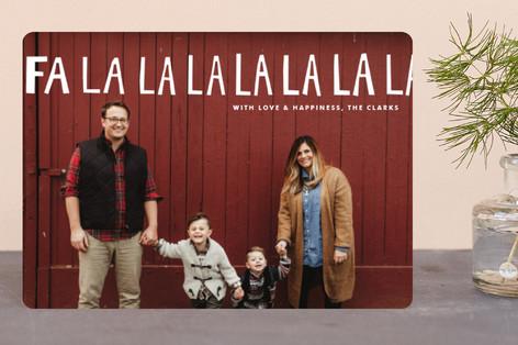 Handlettered Fa La La La La Holiday Petite Cards