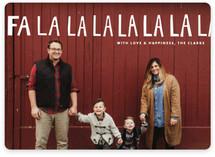 Handlettered Fa La La La La