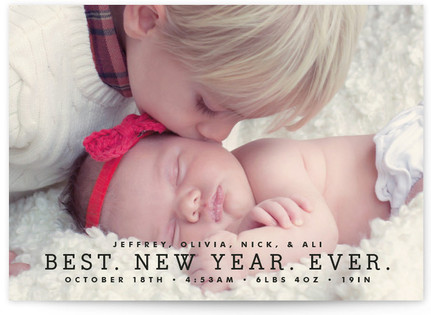 Best Year Ever Petite Holiday Cards