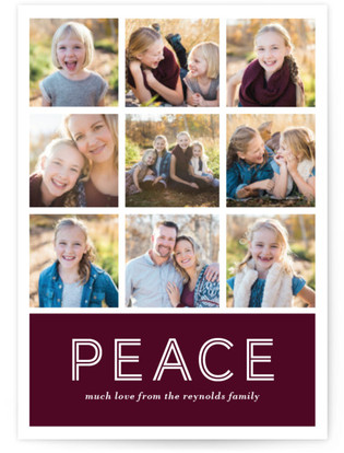 Multi-Peace Petite Holiday Cards