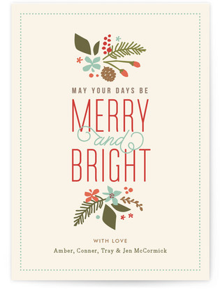 Brightly Merry Petite Holiday Cards