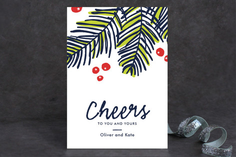 Modern Pine Holiday Petite Cards