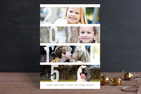Stacked Photos Holiday Petite Cards