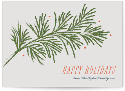 Festive Branches Petite Holiday Cards