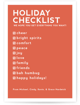 Checklist Petite Holiday Cards