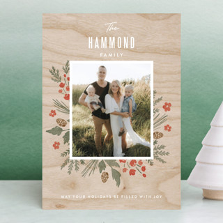 Wooden Frame Holiday Petite Cards