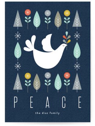 Mod Dove Holiday Non-Photo Cards