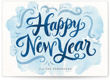 Watercolor New Year by Laura Bolter Design
