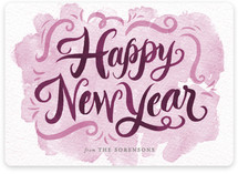 Watercolor New Year