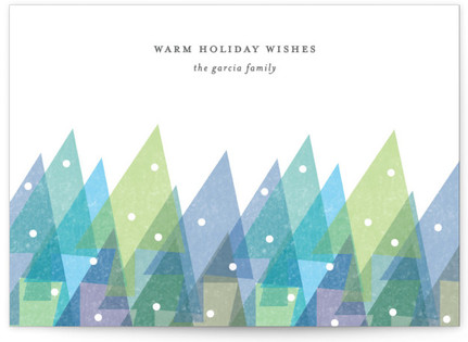 Watercolor Forest Holiday Non-Photo Cards