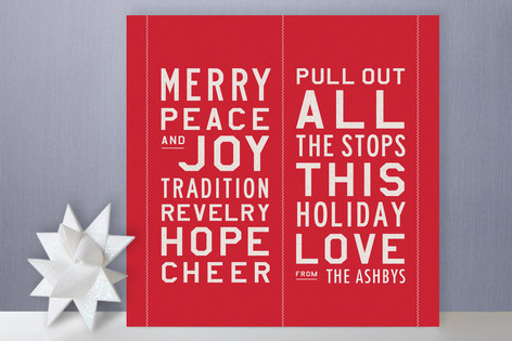 All the Stops Holiday Cards