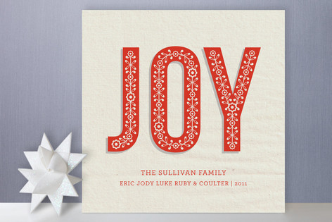 Rustic Joy Holiday Cards
