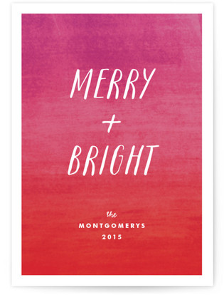Merry and Bright Holiday Non-Photo Cards
