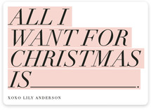 All I want is