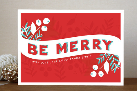 Be Merry Berries Holiday Cards