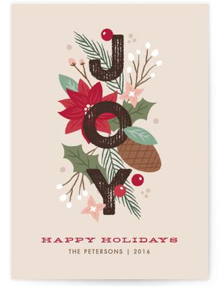 Floral Joy Holiday Non-Photo Cards