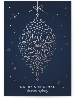 Merry and Bright Ornament Holiday Non-Photo Cards