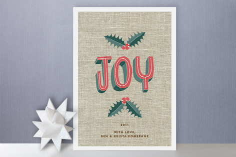 Simple Joy Holiday Cards