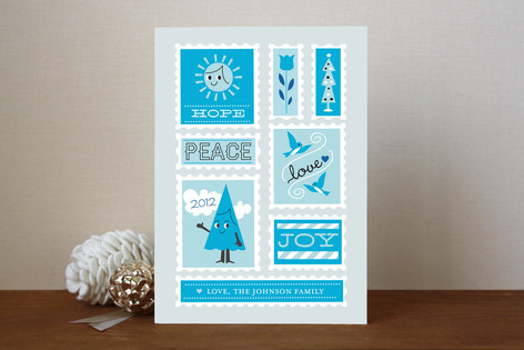 Stamp Collection Holiday Cards