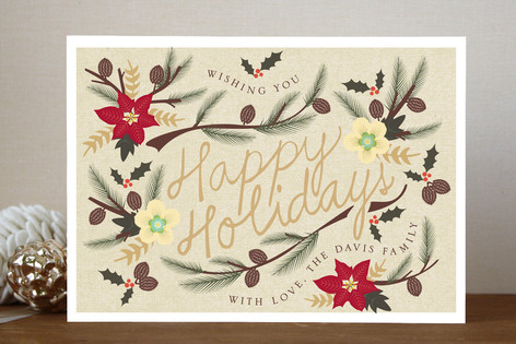 Holiday Flowers Holiday Cards