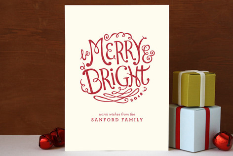 Bright Flourishes Holiday Cards